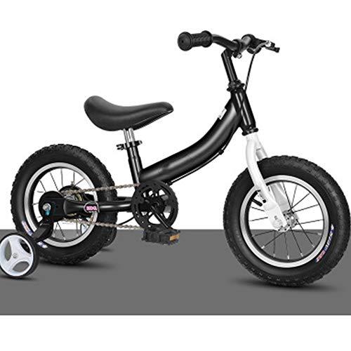 TOOSD Bicicleta De Equilibrio De 12-16 Pulgadas para Niños Pequeños De 2 A 8 Años, Bicicleta De Equilibrio Ligera para Caminar con Ruedas Y Pedales Auxiliares,B,12