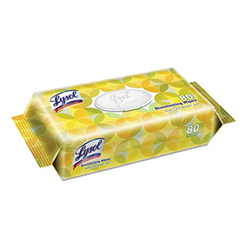 Lysol Disinfecting Wipes with Lemon and Lime Blossom Scent, 80 Wipes/Pack, 6 Pack/Case 99716CT