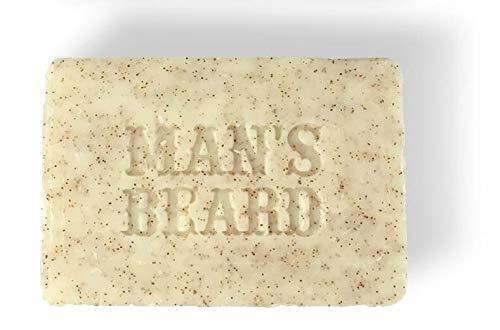 Man's Beard–Sapone esfoliante al latte di capra alpina, per una crescita omogenea della barba, produzione francese