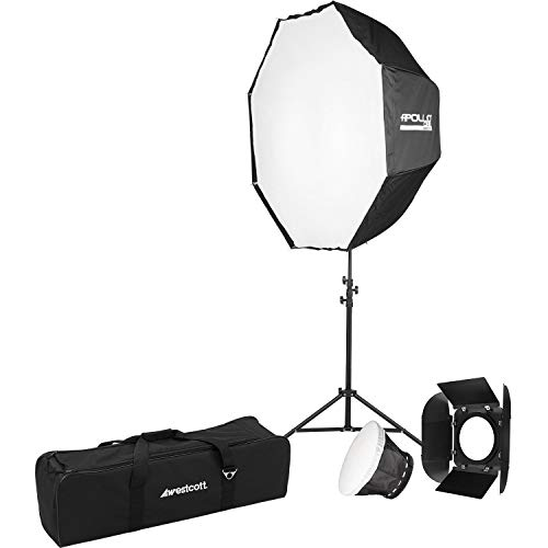 "Westcott Solix Bi-Color 1-Light Kit, Includes 43"" Apollo Orb Octabox and Stand"