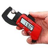 Bebliss Medidor de espesor digital portátil de alta resolución (0.01 mm) Medidor de...