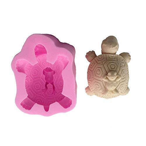 Kuchenform Backform Muffin-Backformen 3D Silikon Schildkröte Zurück Frosch Kuchenform Home Küche Backenwerkzeuge Kuchen Antihaft Silikonform für Cupcakes Kuchen Pudding
