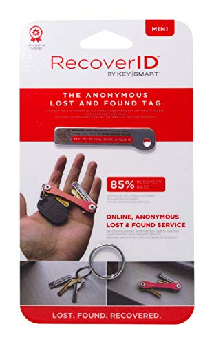 KeySmart RecoverID Mini - Anonymous Lost and Found Tracker Tag (1-Pack)