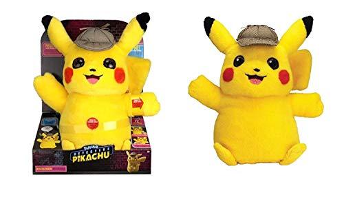 Lively Moments Pokémon Detective Pikachu Plüschtier / Kuscheltier / Pokémonfigur Pikachu ca. 30 cm mit Sound Englisch