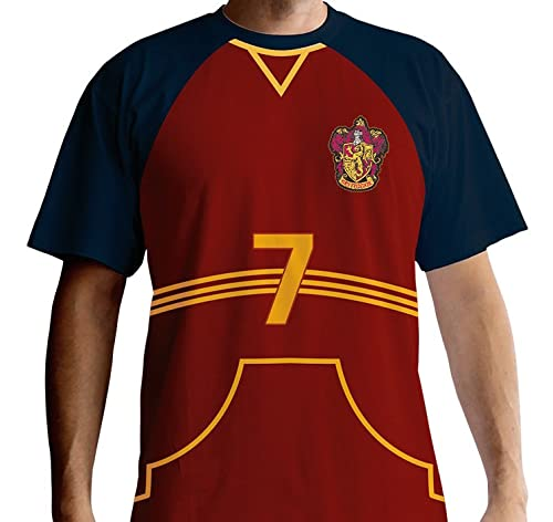 ABYstyle - Harry Potter - Camiseta - Quidditch Jersey - Hombre - Rojo (XXL)