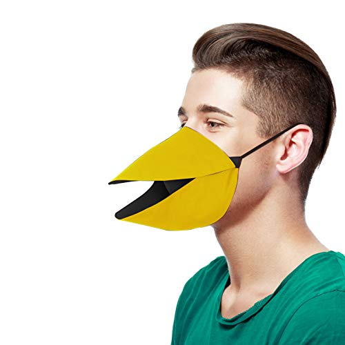 Koippimel Funny Face_Mask Reusable for Women Men, Adults Cute Creative Beak Bird Cloth Facial_Masks Washable for Cosplay Role Playing