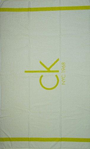 Calvin Klein Toalla de mar Playa Piscina SPA cm. 170x95 Esponja CK Articulo KU0KU00006 Towel City