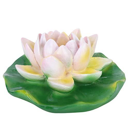 Aoutecen Decor Beautiful pour Fontaine Extérieure(Petit et Moyen Lotus Blanc)