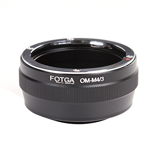 FocusFoto FOTGA Adapter Ring for Olympus OM Mount Lens to Olympus PEN and Panasonic Lumix Micro Four Thirds (MFT, M4/3) Mount Mirrorless Camera Body