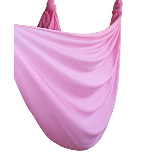 Wellsem 5M Yoga Silk Anti-Gravity Yoga Amaca per Pilates Altalena Attrezzatura per Danza Aerea Aerial Silks Yoga Swing Solo Il Tessuto (Non Gli Altri Accessori) Rosa Ciliegia