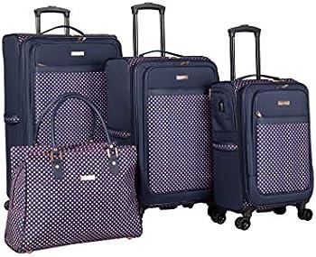 Isaac Mizrahi Soho 4-Piece Spinner Luggage Set