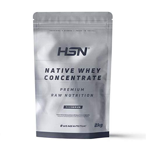 Proteína de Suero Leche Nativa de HSN | Native Whey Concentrate | Procedente de Vacas Alimentadas con Pastos | Materia Prima de Máxima Calidad | Vegetariano, Sin Gluten, Sin Soja, Sin Sabor, 2kg