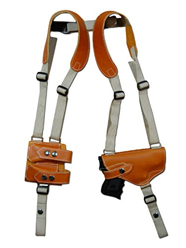 Barsony New Tan Leather Gun Shoulder Holster w/Dbl Magazine Pouch SIG-SAUER P938 Right