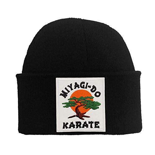 WOOG2005 Winter Skullies Beanies for Women Men (Karate Bonsai)