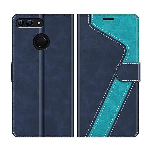 "MOBESV Custodia Huawei P Smart 5,65"" Cellulare, Cover a Libro Huawei P Smart, Custodia in Pelle Huawei P Smart Magnetica Cover per Huawei P Smart, Elegante Blu"