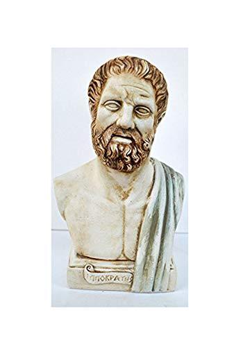 Antikes griechisches Hippokrates Große Skulptur Büste Vater der Medizin Artefakt