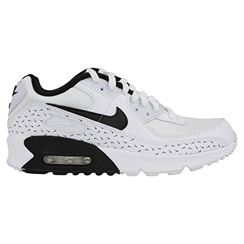 Nike Zapatillas infantiles Air Max 90 (GS), color blanco, color Blanco, talla 38.5 EU