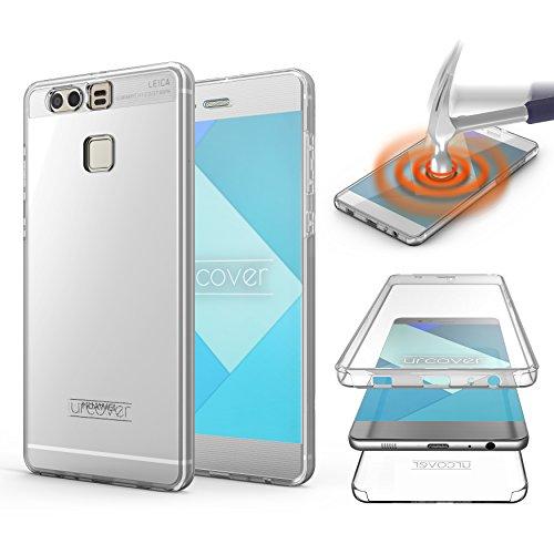 Urcover Touch Hülle 2.0 kompatibel mit Huawei P9 [Upgrade] 360 Grad R&um-Schutz Cover [Unbreakable Hülle bekannt aus Galileo] Clear Full Body Handy-Tasche Schale Handy-Hülle Transparent