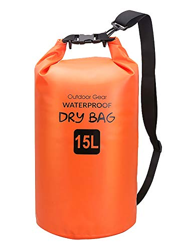 Uheng 5 L 10 L 15 L 20 L Bolsa Seca Impermeable con Correa Ajustable para Kayak Piragüismo Pesca Camping Senderismo Rafting en la Piscina