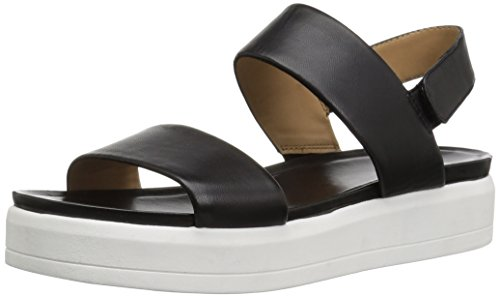Price comparison product image Franco Sarto Women's Kenan Wedge Sandal,  Black,  8.5 M US