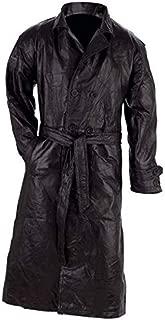 Giovanni Navarre Leather Trench Coat - 2X