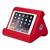 Flippy iPad Tablet Stand Multi-Angle Portable Lap Pillow for Home, Work & Travel. Our iPad and Tablet Holder Has Three Viewing Angles for All iPads, Tablets & Books. (Super Red)