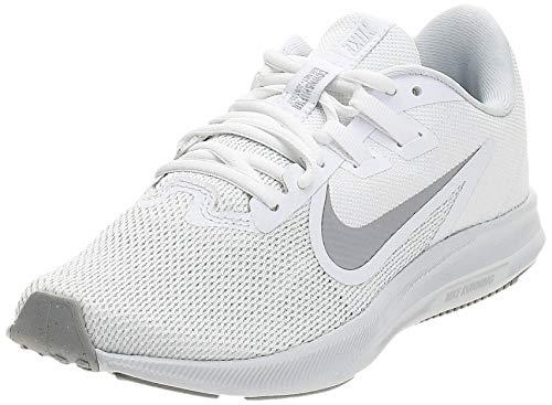 Nike Damen WMNS Downshifter 9 Leichtathletikschuhe, Mehrfarbig (White/Wolf Grey/Pure Platinum 000), Numeric_41 EU