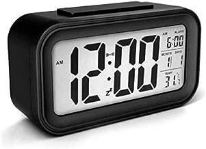 RYLAN Digital Smart Alarm Clock with Automatic Sensor,Date & Temperature, Alarm Clock for Heavy Sleepers, Alarm Clock for Students, Digital Alarm Clock for Home, Alarm Clock for Bedroom (Black)