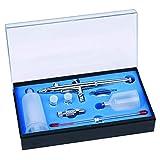 Huachaoxiang Cabeza, Doble Acción Kit De Aerógrafo Aguja Color Spray Pistola Capacidad De Gran Capacidad Cake Art...