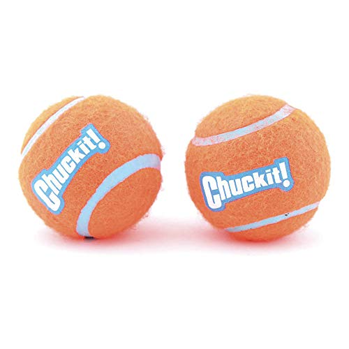 Chuckit 057402 Tennis ball Medium, 2 Hundebälle kompatibel mit ballwerfer, M