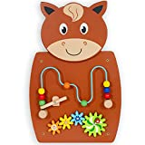 LEARNING ADVANTAGE Horse Activity Wall Panel - 18M+ - in Home Learning Activity Center - Wall-Mounted Toy for Kids - Decor for Bedrooms and Play Areas