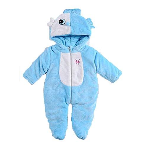 OHmais Bébé Fille garçon Unisexe Grenouillère Costume Deguisement Combinaison Pyjamas vêtement Hiver épaissi Poissons