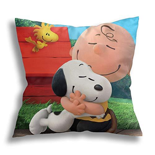 Peanuts Best Friends - Fundas de cojín de 45,7 x 45,7 cm, cuadradas, suaves, decorativas, para salón, sofá, dormitorio