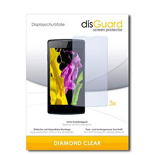 disGuard 3 x Schutzfolie Oppo Neo 5 Bildschirmschutz Folie DiamondClear unsichtbar