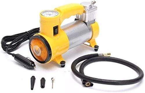 Volbit Heavy Duty Metal Electric Car Yellow Air Compressor Pump Portable Tire Tyre Infiltrator,Cooper Winding, 12V Dc, 35L/Min Air Flow (Yellow)