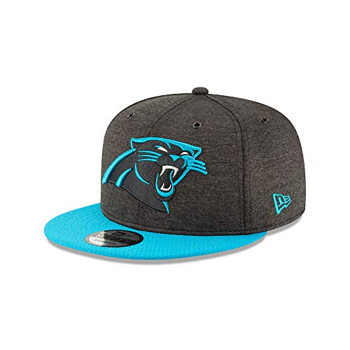 New Era NFL Carolina Panthers Authentic 2018 Sideline 9FIFTY Snapback Home Cap, Black & Teal, M - L