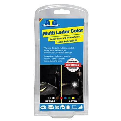 ATG Tinte reparador Cuero Set: restaurador Cuero y Cuero sintético, Multicolor