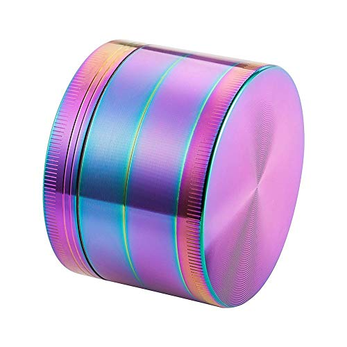 Imagen del producto Colourful 4 Pieces Metal Zinc Alloy Grinder Tobacco Smoking Cigarette Crusher Spice Muller Pipe Accessories Herb Grinder