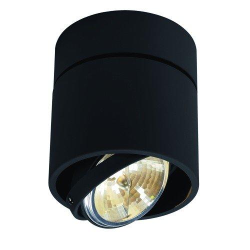 SLV halogeen plafondlamp KARDAMOD voor een effectieve binnenverlichting | Draai- en zwenkbare plafondlamp, plafondspot, spot binnenverlichting | 1 lamp, rond, zwart, G53, max 50W, D -A+