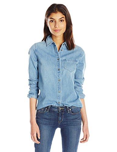AG Adriano Goldschmied Women's Easton Shirt, Blue Light, Medium