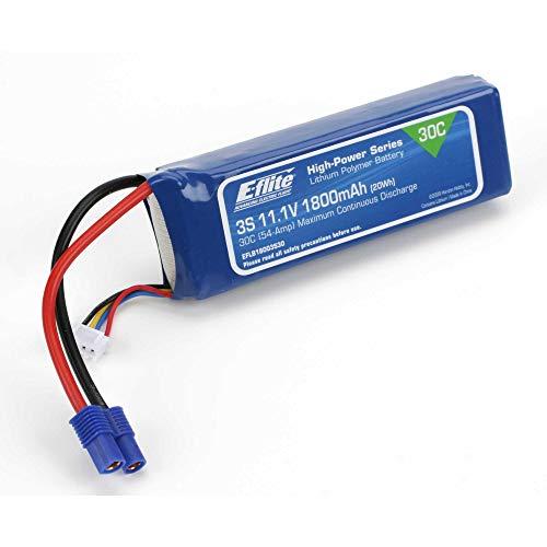 E-flite 1800mAh 3S 11.1V 30C LiPo, 13AWG: EC3, EFLB18003S30