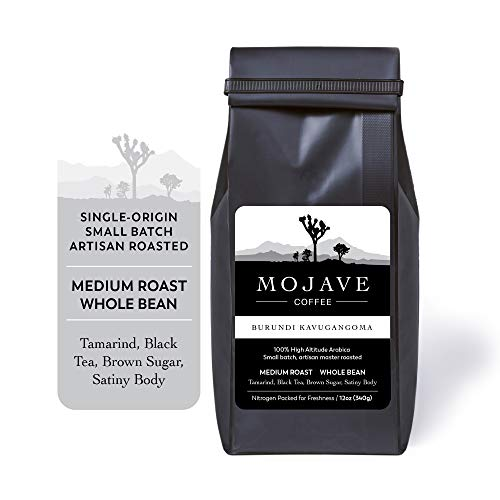 Burundi Kavugangoma, Single-Origin, Medium Roast from Premium Arabica Coffee Beans Grown at High-Altitude, Keto Friendly, Small Batch Fresh Roasted 12 oz - Mojave Coffee (Ground)