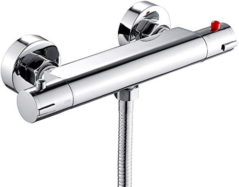 Duscharmatur Duschthermostat Brausethermostat Mischbatterie Dusche Wannenarmatur Thermostat mit 38 °C Sicherheitstaste Chrom