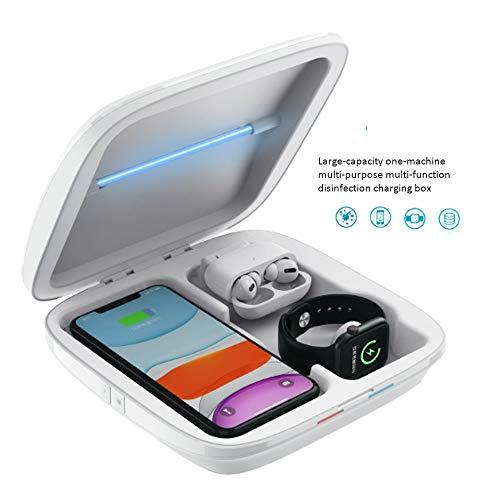 Mobile Phone Sterilisatie Box, draadloos opladen Sterilisatie Box, geschikt voor mobiele telefoon, horloge, Hoofdtelefoon, sieraden Sterilisatie