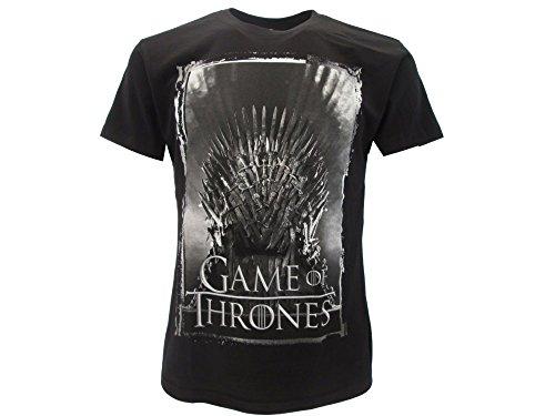 Games of Thrones T-Shirt Originale Trono Nera Trono di Spade con cartellino ed Etichetta di originalità Maglia Maglietta (M Adulto)