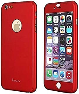 Ipaky 360 Full Protection Case With Glass Screen Protector For Iphone 7 Plus / 7S Plus - Red