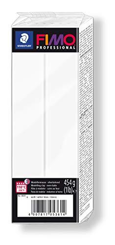 STAEDTLER-8041-0 ST Pasta de modelar de endurecimiento al horno, Color blanco (8041-0)