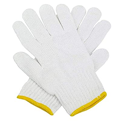 Safety Grip Protection Knit Cotton Gloves for light to medium duty work White-One size large