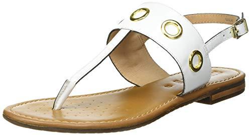 Geox D Sozy S E, Sandal. Femme, Blanc, 36.5 EU