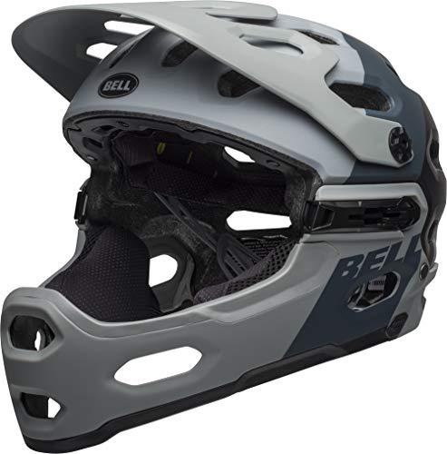 Bell Unisex– Erwachsene SUPER 3R MIPS Fahrradhelm, downdraft mat Grey/Gunmetal, M